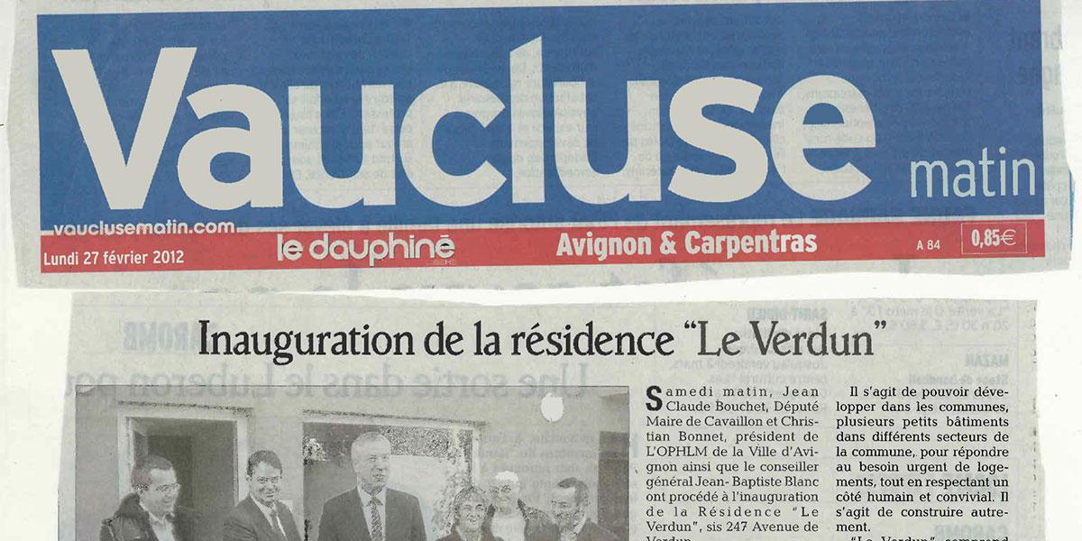 Vaucluse: Inauguration de la résidence